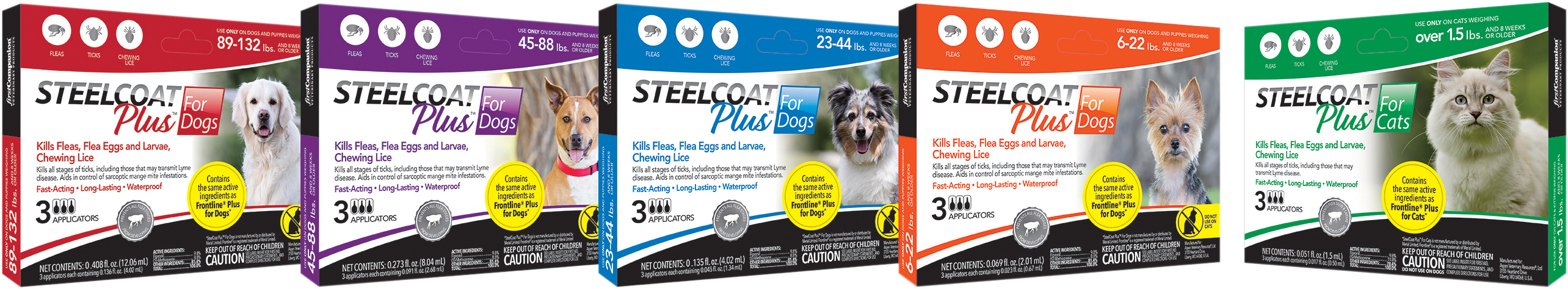 Steelcoat Flea and Tick protection for dogs and cats